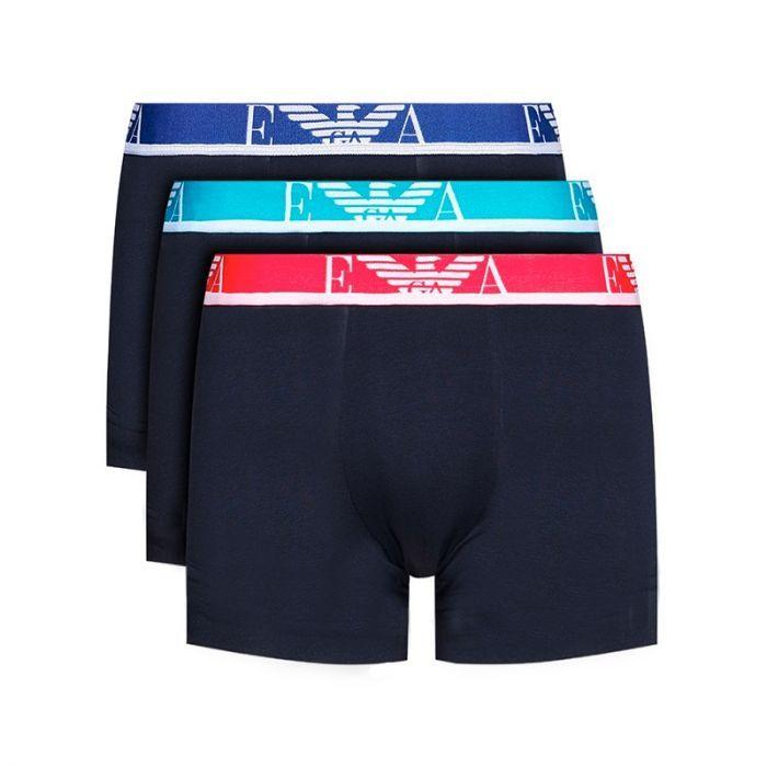 Emporio Armani 3-pack boxershort rood blauw