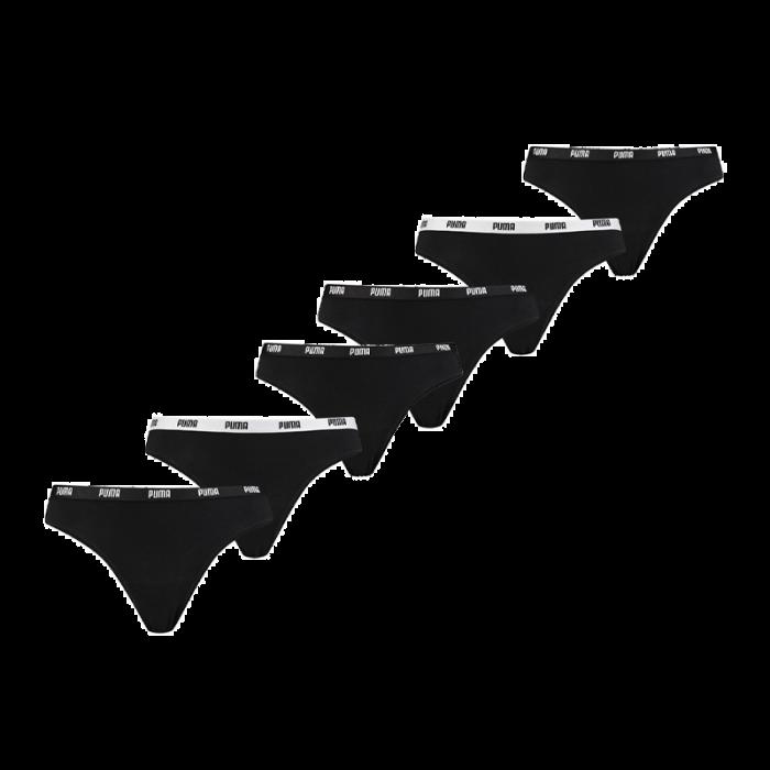 Puma 6-pack dames strings - zwart