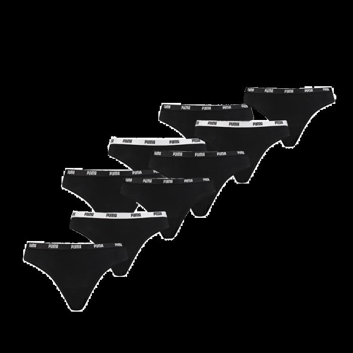 Puma 9-pack dames strings - zwart