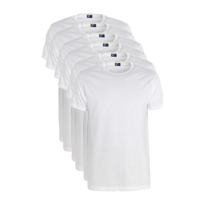 Alan Red 6-pack t-shirts derby ronde hals wit.