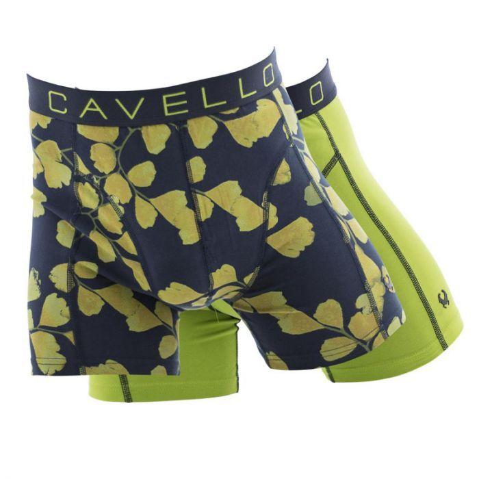 Cavello 2-pack heren boxershorts Leaf - geel