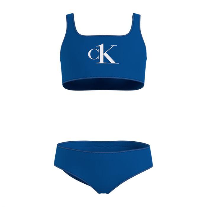 Calvin Klein bralette bikini set girls blauw - C5D