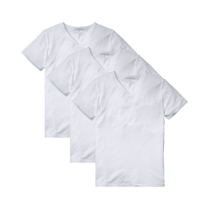 Tommy Hilfiger 3-Pack T-shirts V-Neck Premium Essentials Wit