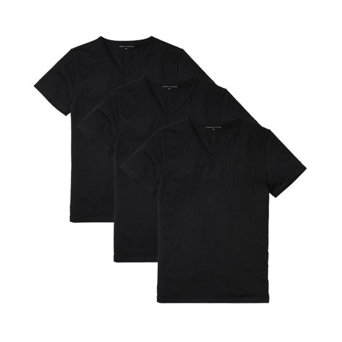 Tommy Hilfiger 3-Pack T-shirts V-Neck Premium Essentials Zwart