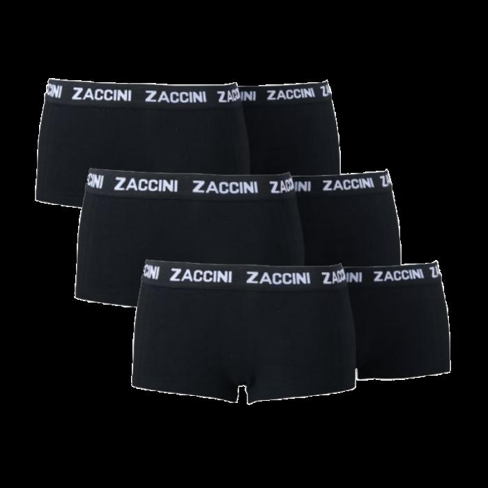 Zaccini 6-pack dames boxershorts zwart