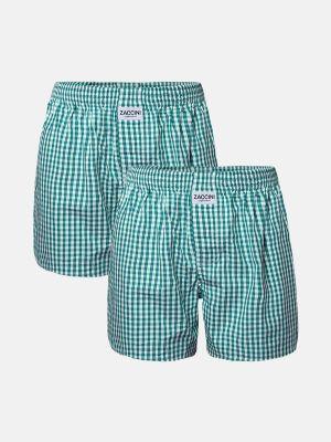Zaccini 2-pack boxershorts woven groen