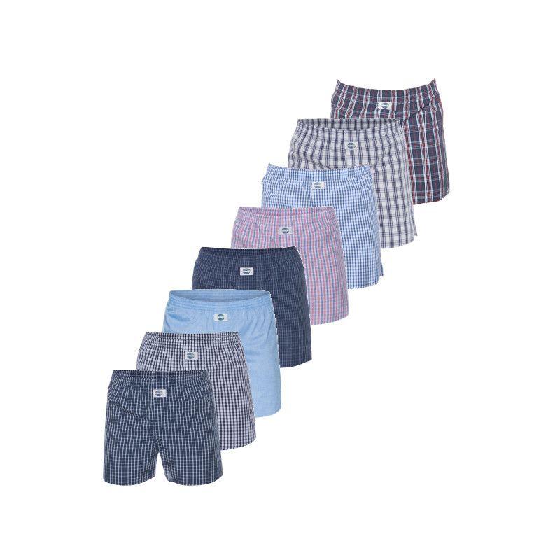 DEAL 8-pack heren boxershorts - ruit