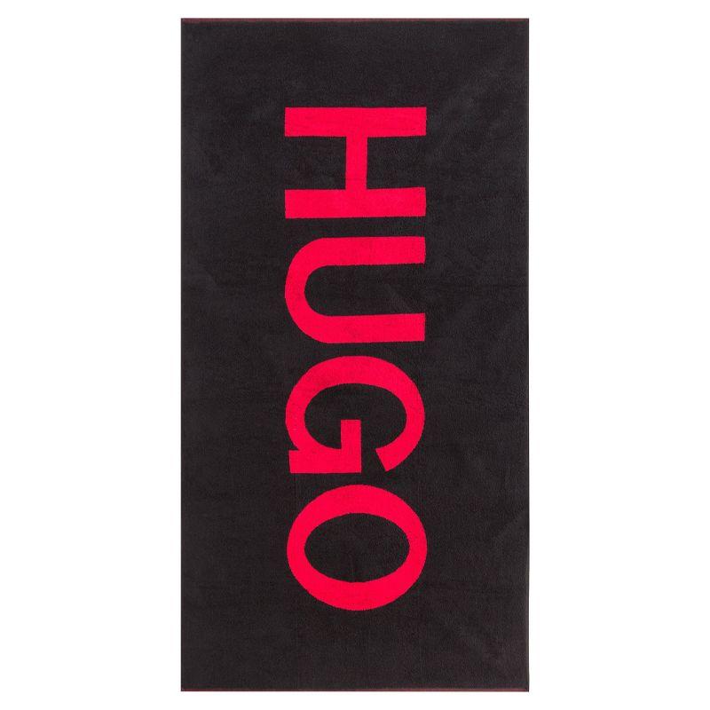 Hugo Boss strandlaken logo - zwart rood