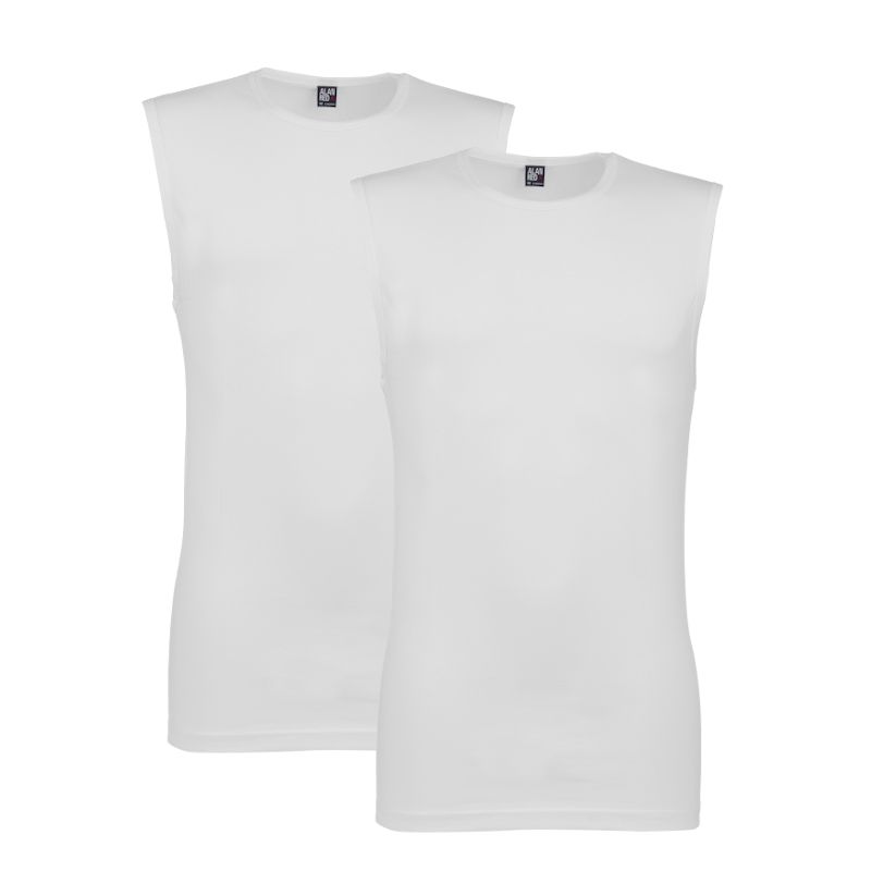 Alan Red 2-pack heren t-shirts Orlando - wit