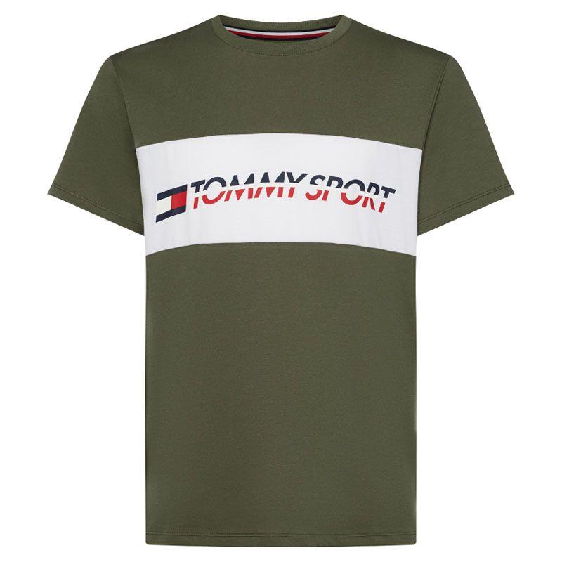 Tommy Hilfiger sport t-shirt logo driver groen