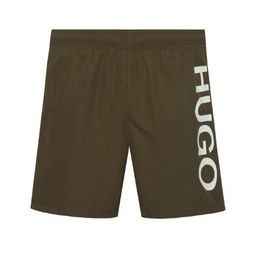 Hugo Boss heren zwemshort logo - kaki