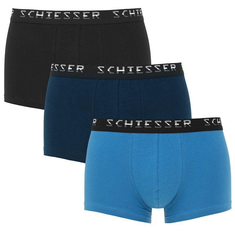 Schiesser 3-pack boxershorts blauw