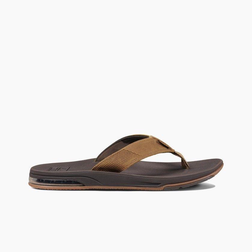 Reef heren slipper Leather Fanning Low