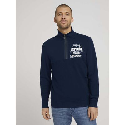 Foto van Tom Tailor heren sweat shirt Troyer