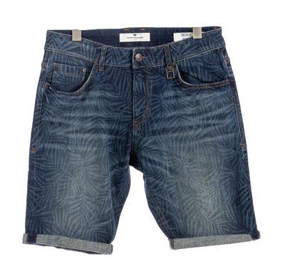 Foto van Tom Tailor heren jeans korte broek Print