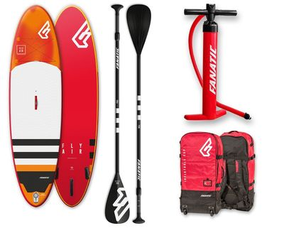 Foto van Fanatic Wind/Sup Fly Air Inflatable Premium met paddle