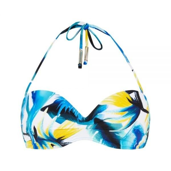 Beachlife Tulgey Wood bandeau bikinitop
