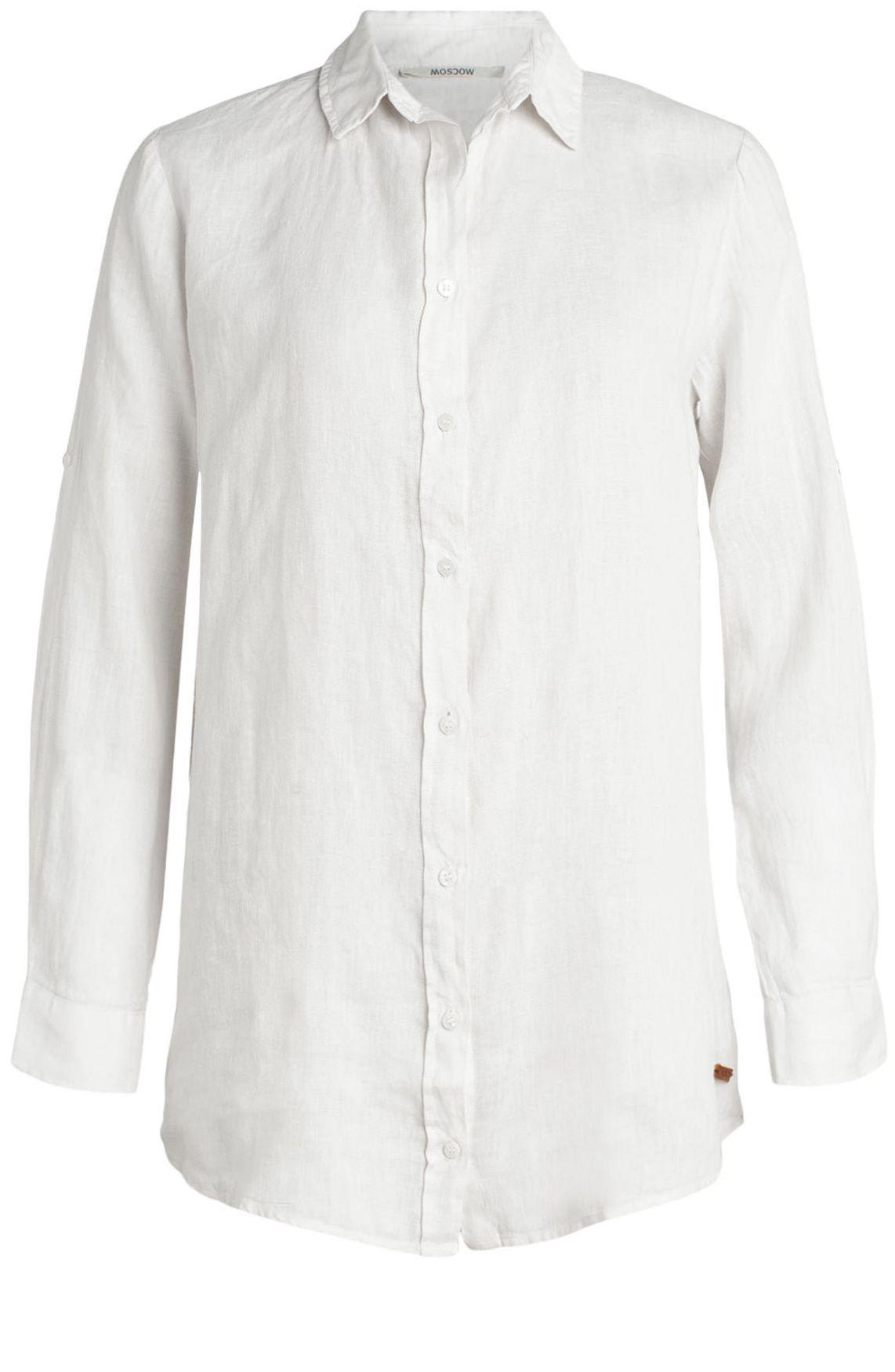 Moscow dames Button linnen blouse
