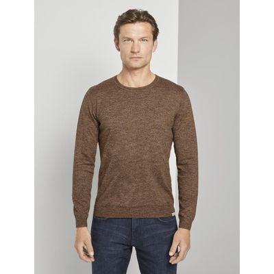 Tom Tailor heren Melierter pullover