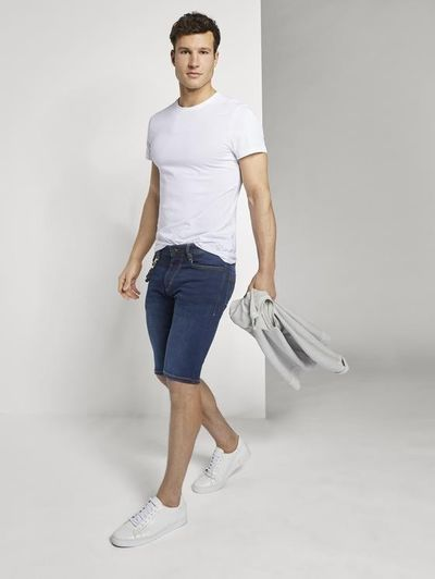 Foto van Tom Tailor heren stretch jeans korte broek