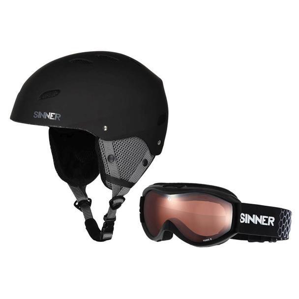 Sinner combi-pack skihelm met skibril