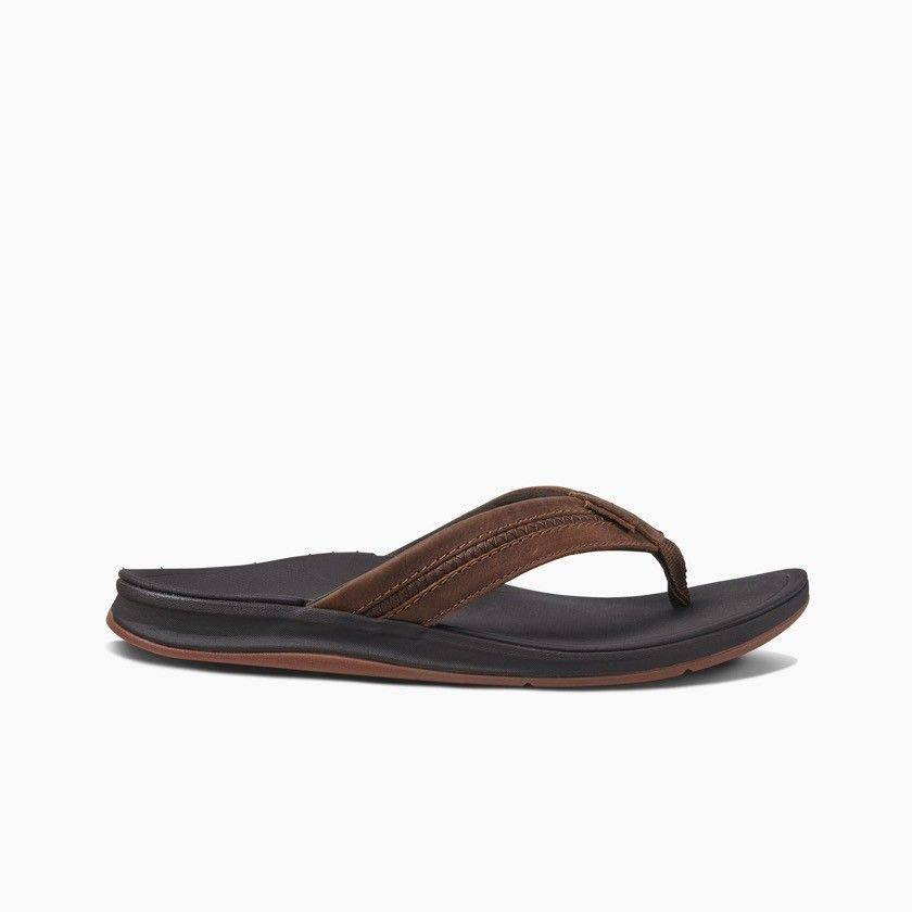 Reef heren slipper Leather Ortho Bounce