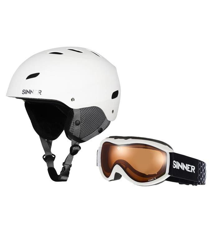 Sinner combi pack skihelm met skibril