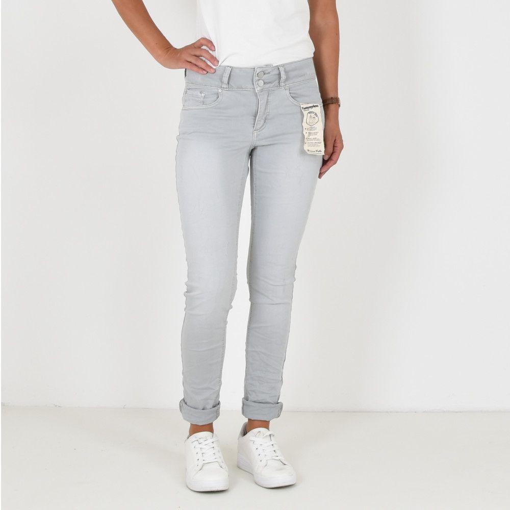 Buena Vista Tummyles jeans silver scone
