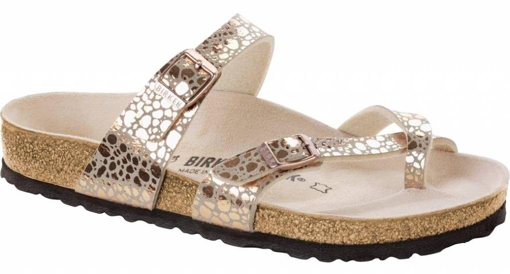 Birkenstock dames slipper Mayari metallic copper