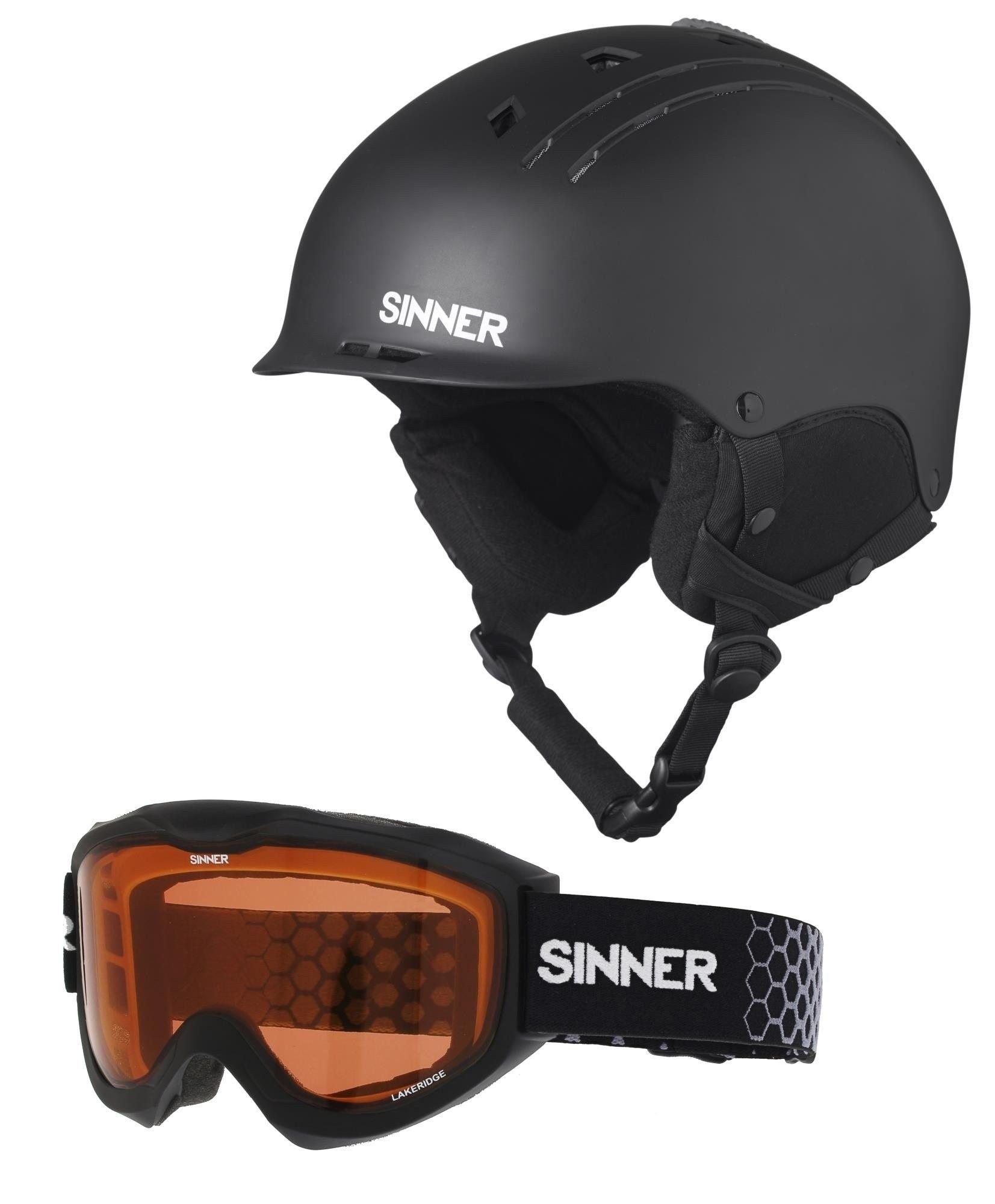 Skihelm + skibril combi pack