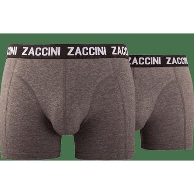 Foto van Zaccini heren ondergoed 2 pack grijs