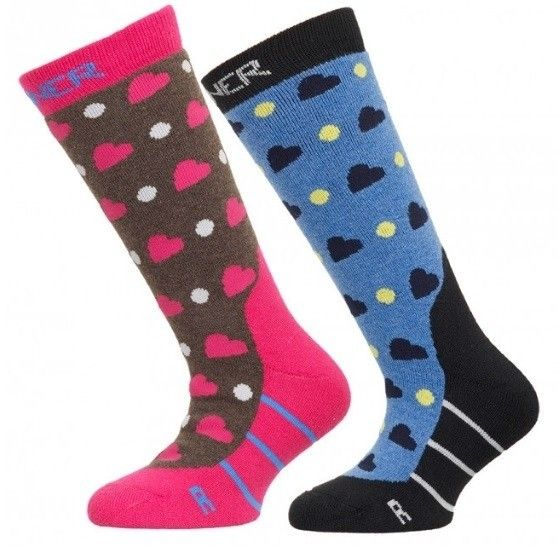 Sinner meisjes ski sokken 2 pack