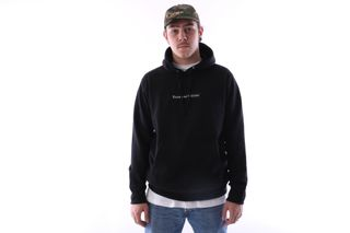 Foto van Raised By Wolves Box Logo Hooded Sweatshirt Black French Terry