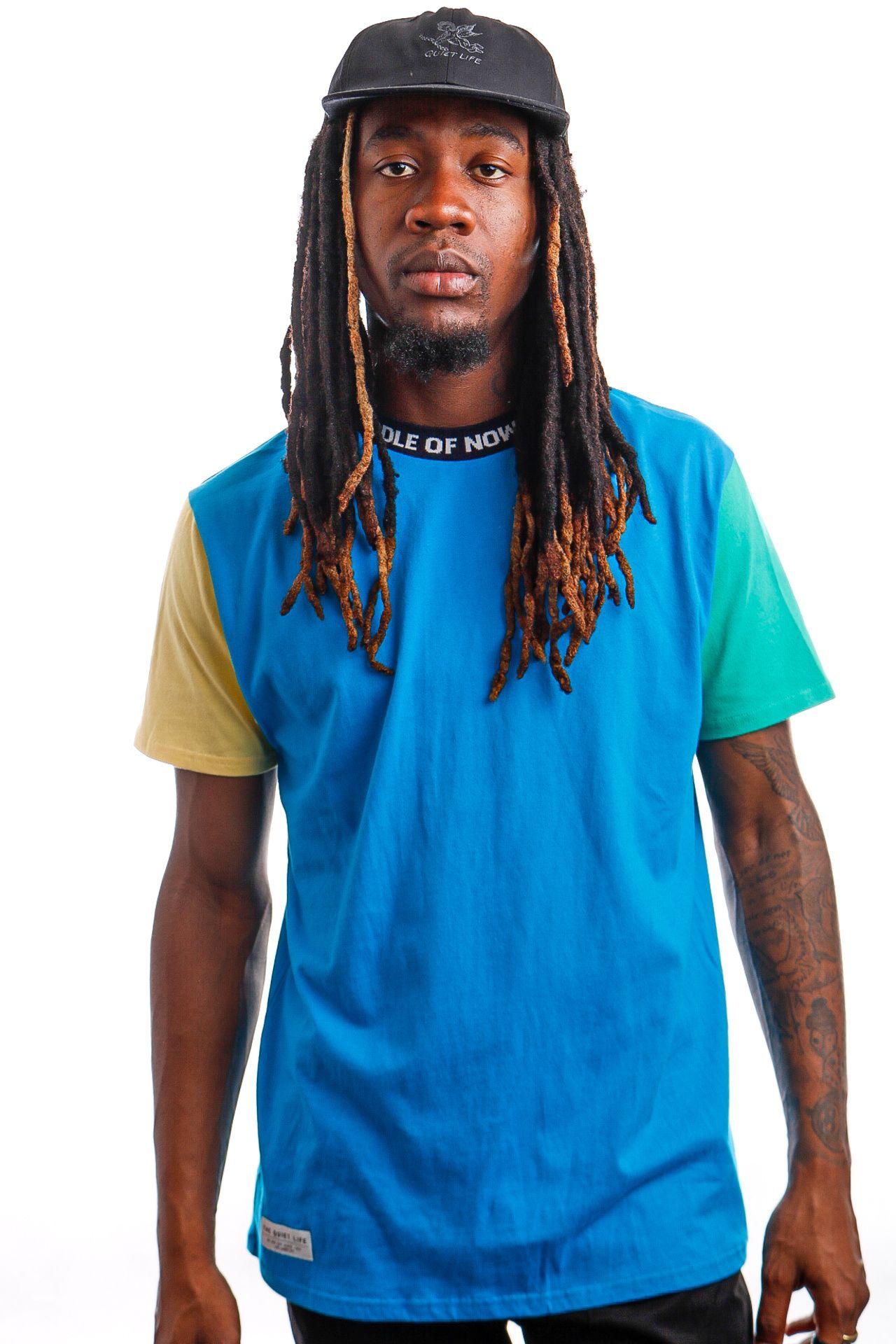 Afbeelding van Quiet Life T-shirt QUIET LIFE MIDDLE OF NOWHERE COLORBLOCKED Blue QL-19SPD2-2130