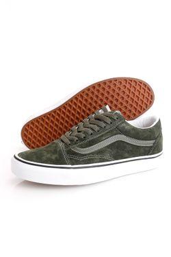 Afbeelding van Vans Sneakers UA Old Skool (PIG SUEDE) Olive/True Wh VN0A3WKT4QV1