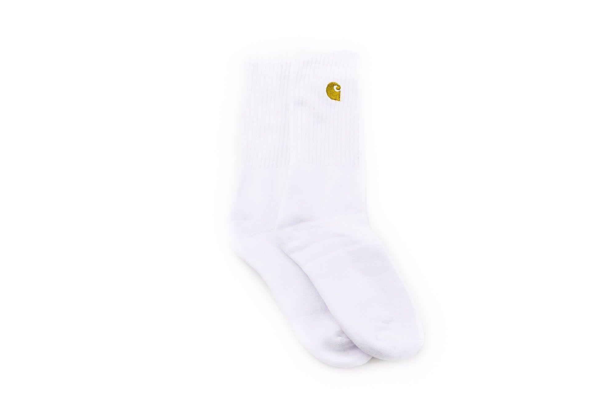 Afbeelding van Carhartt Wip Chase Socks I026527 Sokken White / Gold