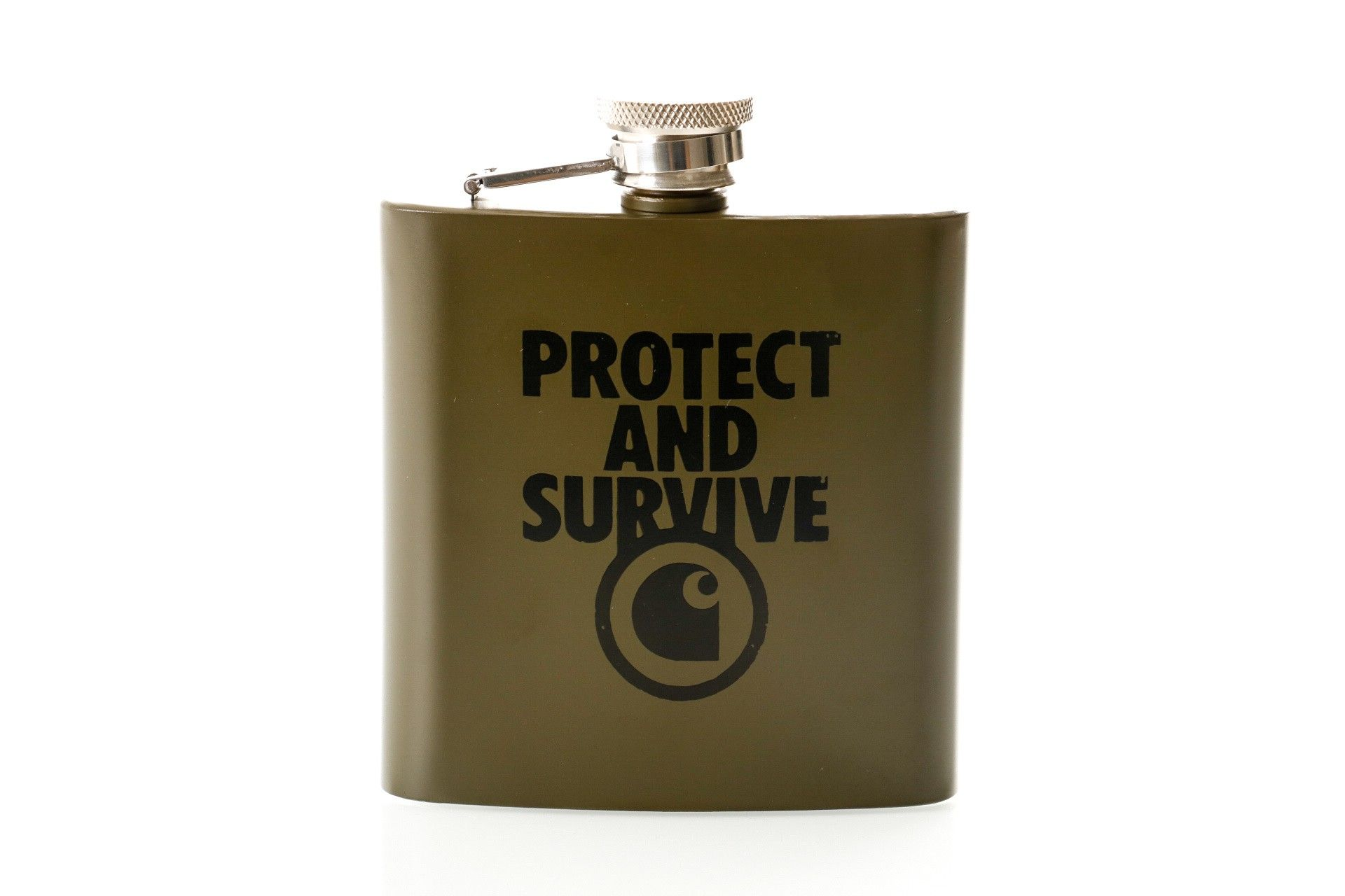Afbeelding van Carhartt Wip Protect And Survive Whiskey Flask I027448 Heupfles Cypress