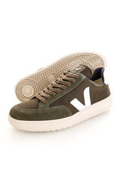 Afbeelding van Veja Sneakers V-12 B-MESH OLIVE-WHITE XD011665B