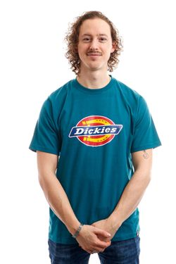 Afbeelding van Dickies T-Shirt Horseshoe Tee Men Coral Blue DK60075XCBL1