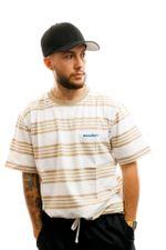 Woodbird T-shirt Olei Stripe Tee White-Ecru-Kit 2026-410