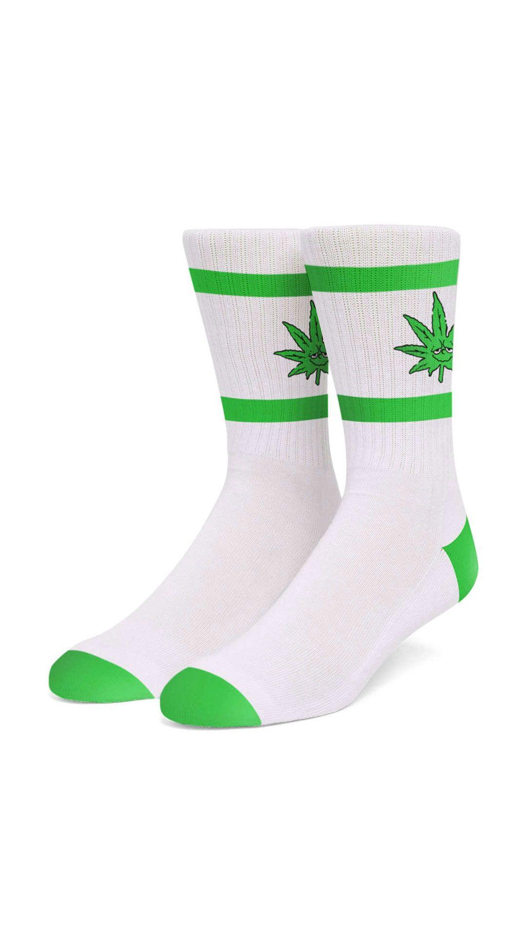 Afbeelding van HUF Sokken Green Buddy Athletic Socks White SK00635