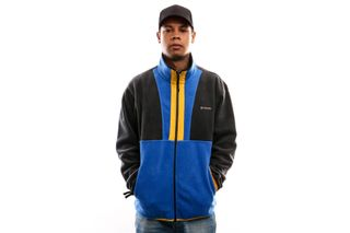 Foto van Columbia Back Bowl™ Full Zip Fleece 1872792 Jacket Azul / Black / Stinger