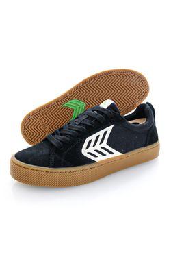 Afbeelding van Cariuma Sneakers CATIBA PRO Skate Ivory Logo Gum Black Suede and Canvas 400807B14M080