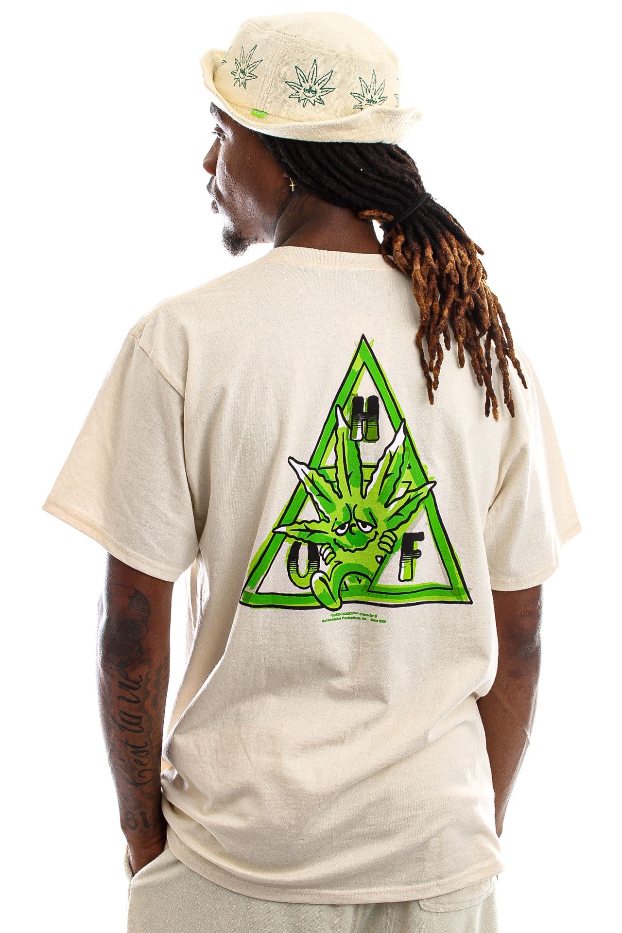 Afbeelding van HUF T-Shirt Green Buddy S/S Tee Naturel TS01607