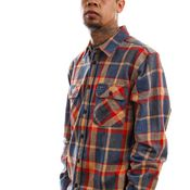 Brixton Blouse Bowery L/S Flannel Blue/Red 1213