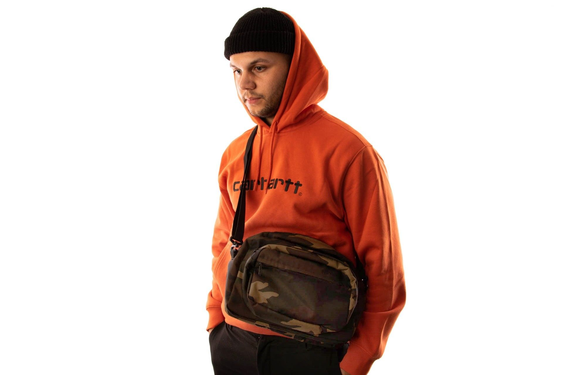 Afbeelding van Carhartt Wip Payton Shoulder Bag I025414 Schoudertas Camo Laurel / Black