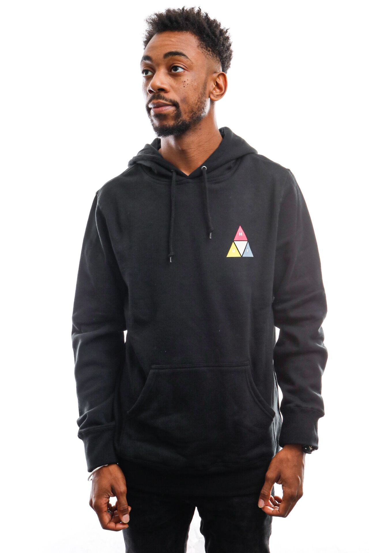 Afbeelding van HUF Hooded Prism Trail P/O Hoodie Black Pf00360-Blk