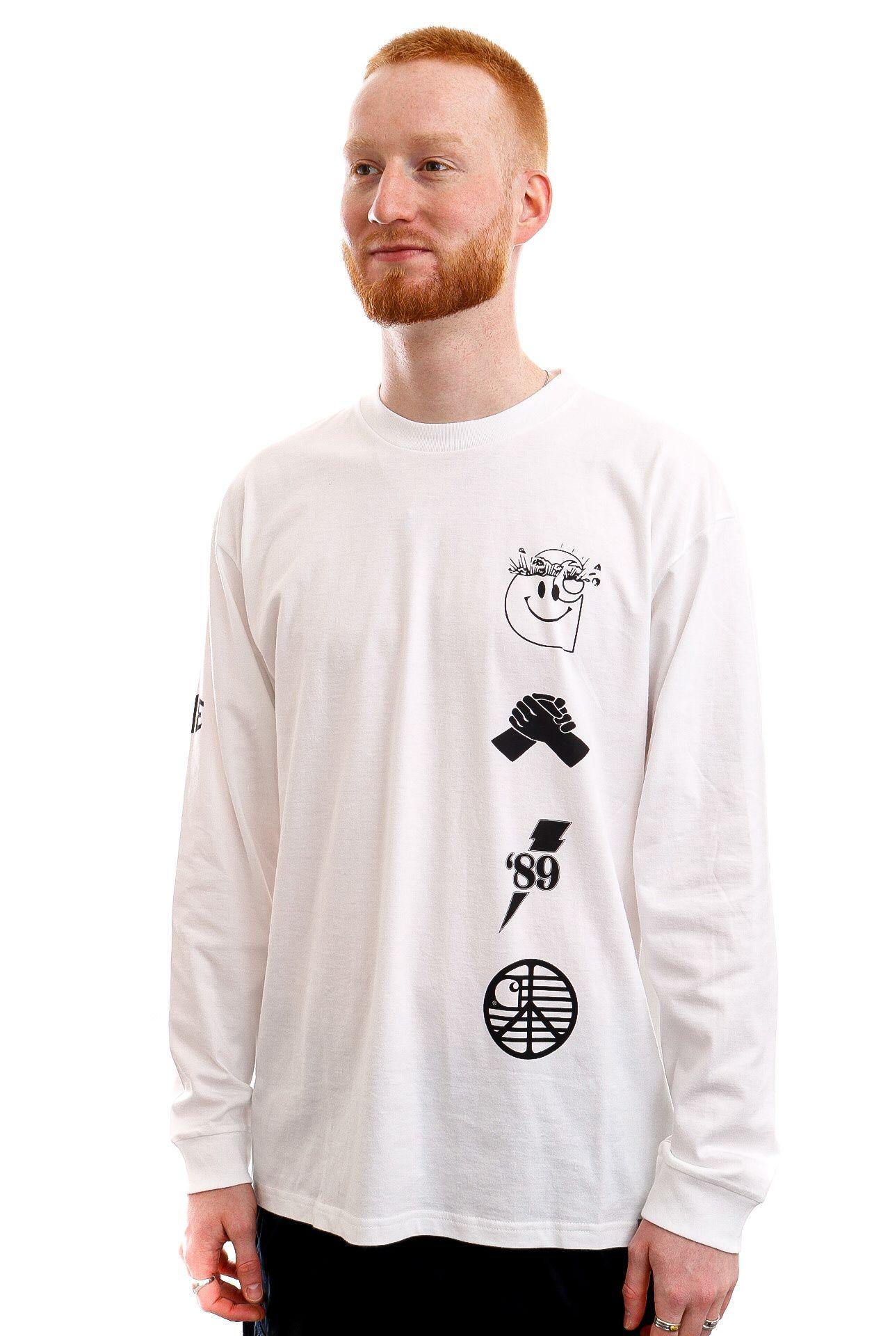 Afbeelding van Carhartt Longsleeve L/S Tab T-Shirt White / Black I028933