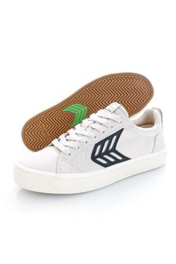 Afbeelding van Cariuma Sneakers CATIBA PRO Skate Black Logo Vintage White Suede and Canvas Black 400807W14W090