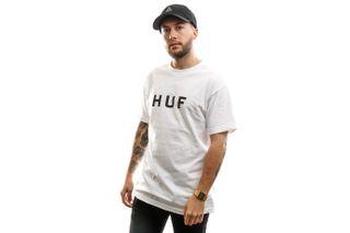 Foto van HUF T-shirt Essentials Og Logo S/S Tee White TS00508-WHITE
